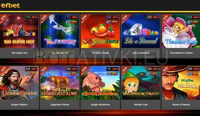 Efbet Slot Games